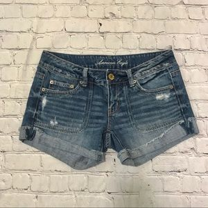 American Eagle Size 4 Blue Jean Shorts